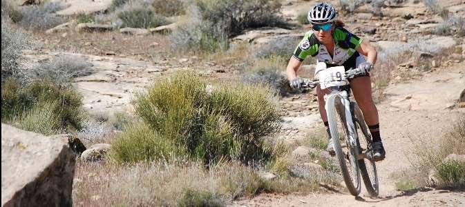 Sarah Kaufman on her way to 2nd place!