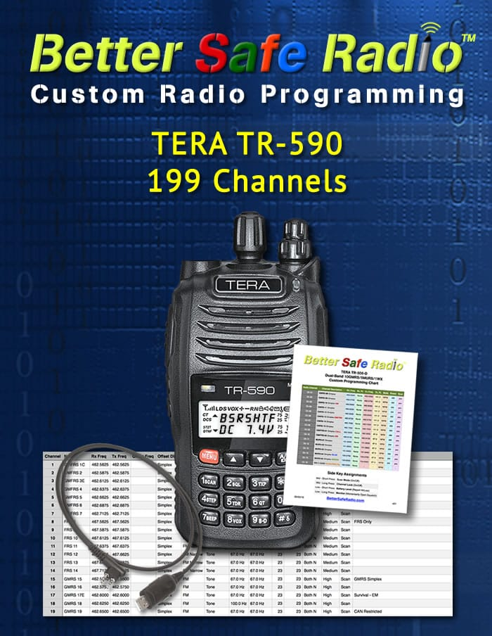 BSR-PRG590 Custom Radio Programming for TERA TR-590