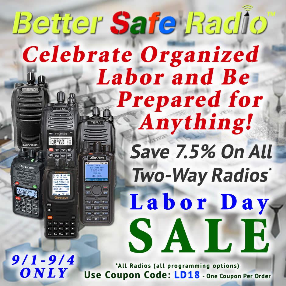 BetterSafeRadio - Celebrate Labor 2018 Sale
