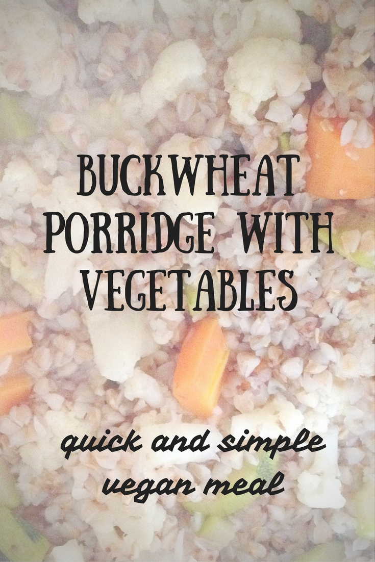 buckwheat porridge with vegetables vegan meal