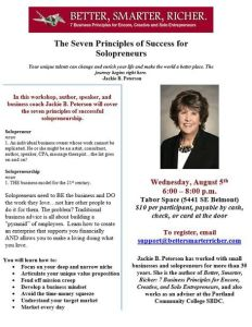 7 Steps for Financial Success as a Solopreneur @ Tabor Space | Portland | Oregon | United States