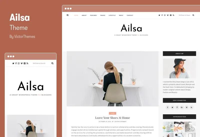 Ailsa Theme - Personal Blog WordPress Theme