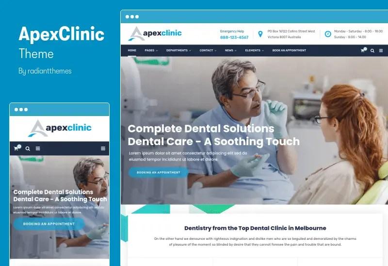 ApexClinic Theme - Health & Clinic Theme