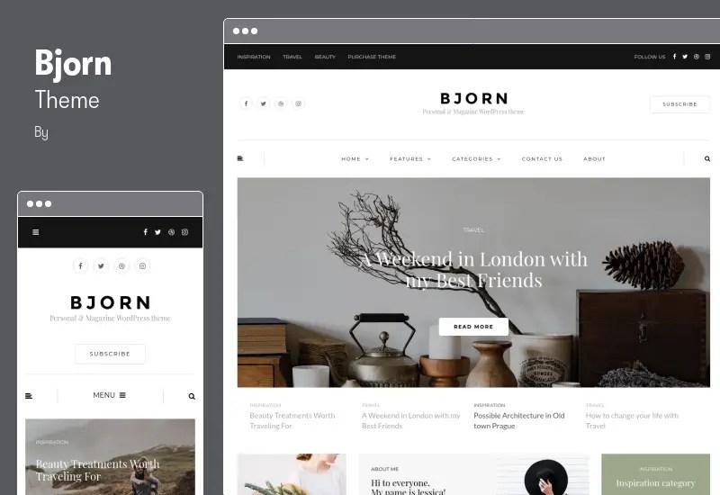 Bjorn Theme - Responsive WordPress Personal Blog Theme