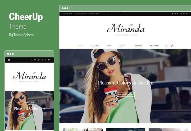 CheerUp Theme - Food, Blog & Magazine WordPress Theme