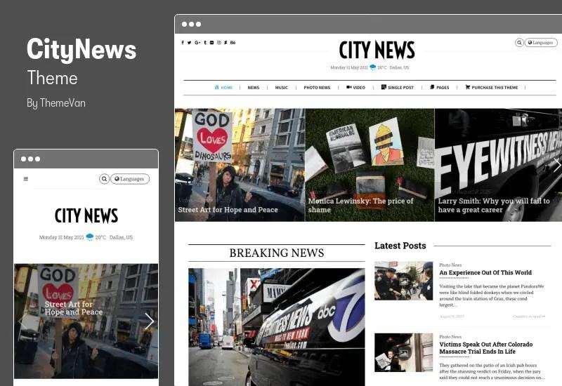CityNews Theme - Comprehensive Newspaper WordPress Theme