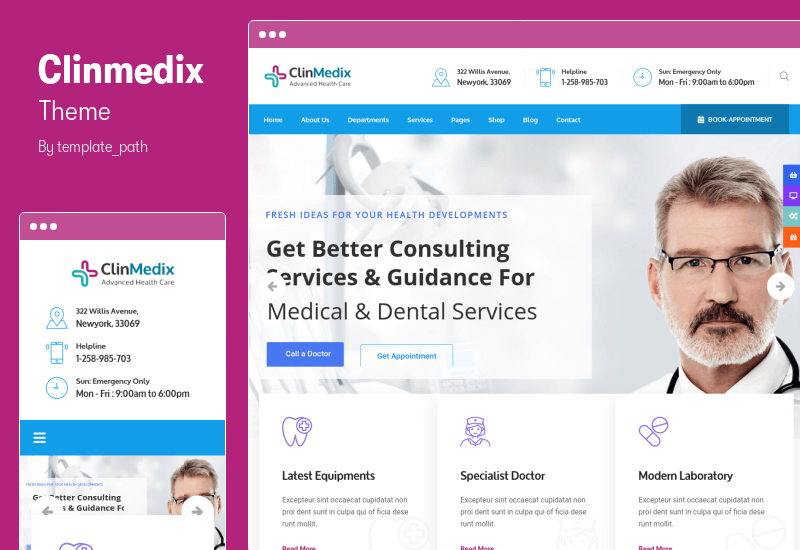 Clinmedix Theme - Health And Medical WordPress Theme