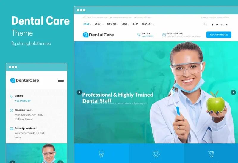 Dental Care Theme - Dentist & Medical WordPress Theme