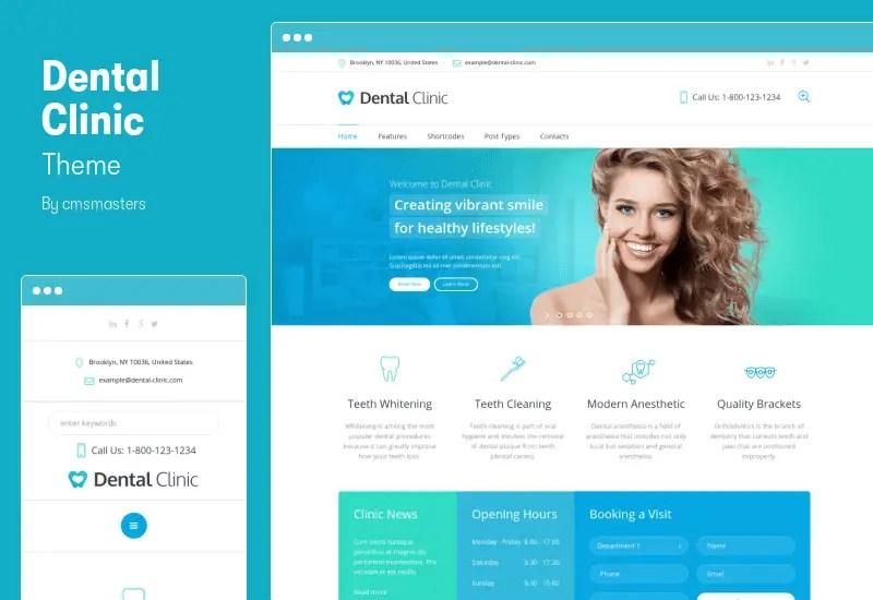 Dental Clinic Theme - Medical & Dentist WordPress Theme