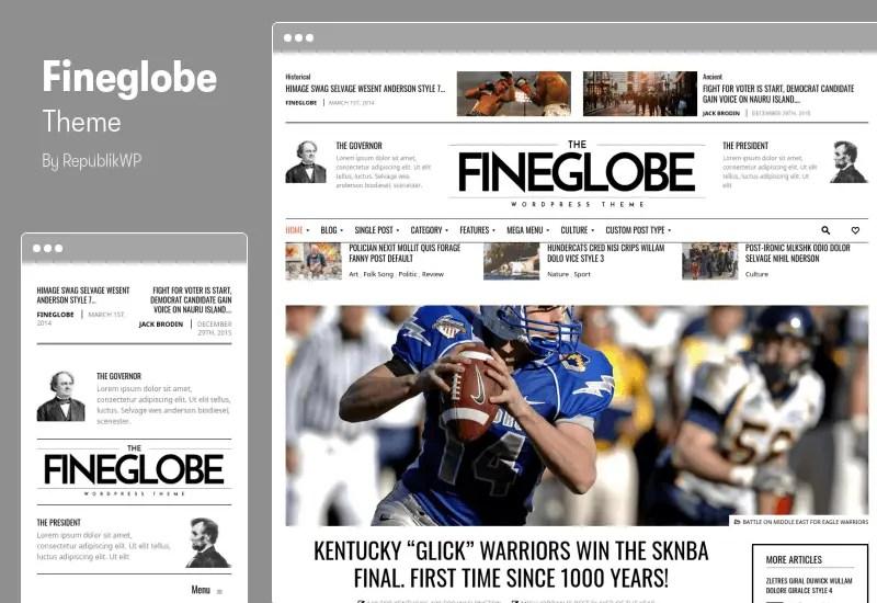Fineglobe Theme - Classic Newspaper Theme