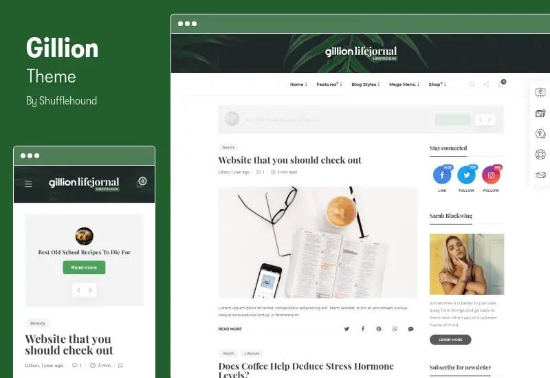 Gillion Theme - Multi-Concept Blog/Magazine & Shop WordPress AMP Theme
