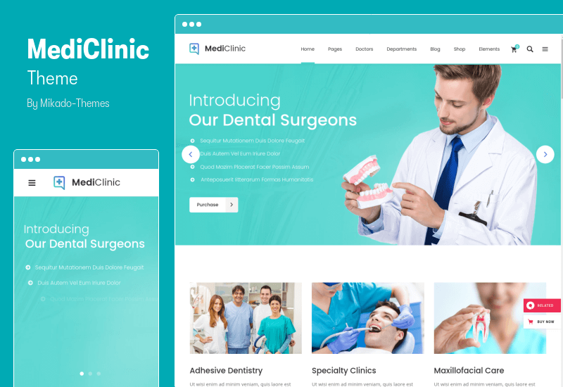 MediClinic Theme - Medical Healthcare WordPress Theme