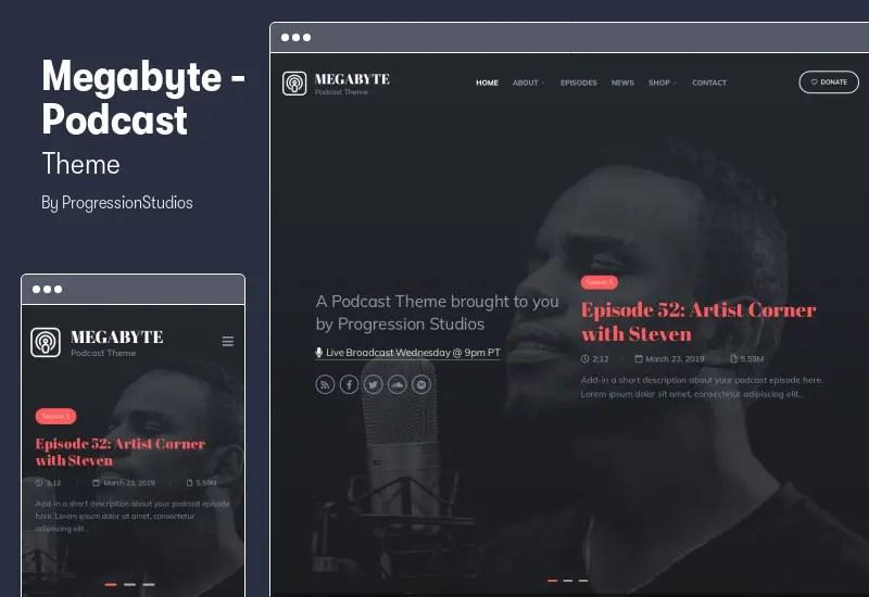 Megabyte - Podcast Theme - Audio WordPress Theme
