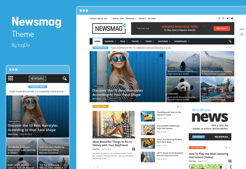 Newsmag Theme - Newspaper & Magazine WordPress Theme