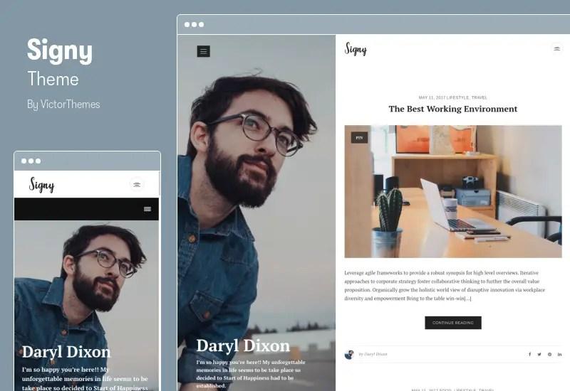 Signy Theme - A Personal Blog WordPress Theme