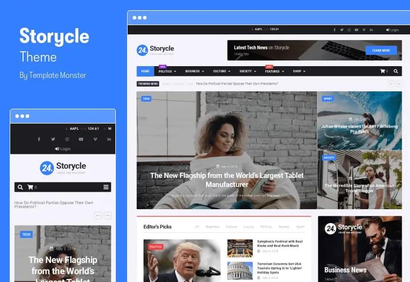 Storycle Theme - Multipurpose News Portal WordPress Elementor Theme