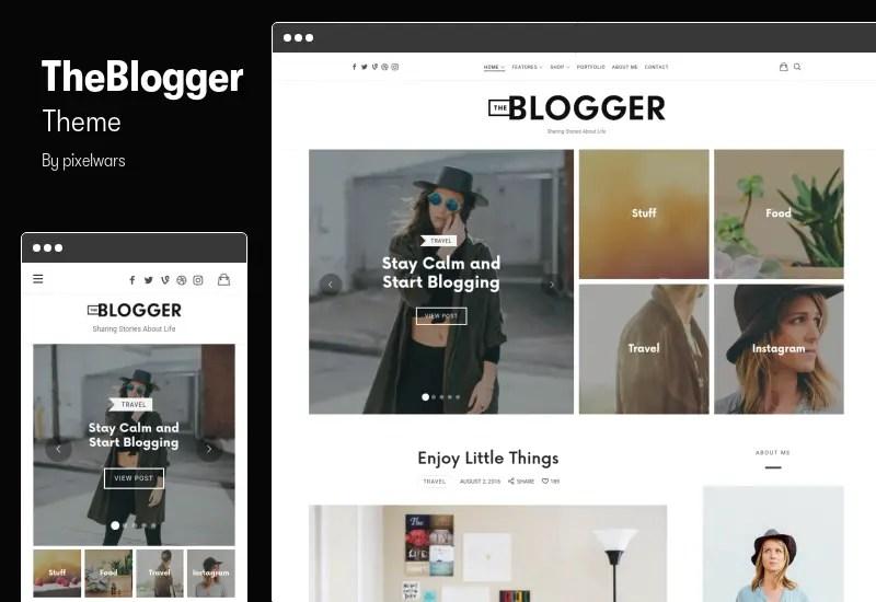 TheBlogger Theme - Blog WordPress Theme