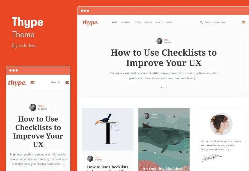 Thype Theme - Personal Blog WordPress