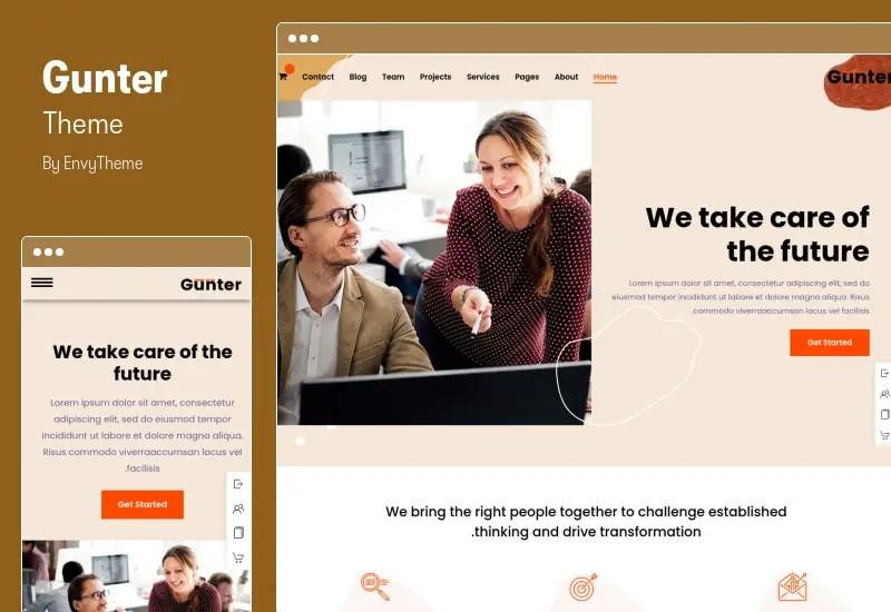 Gunter Theme - RTL IT & Marketing Company WordPress Theme