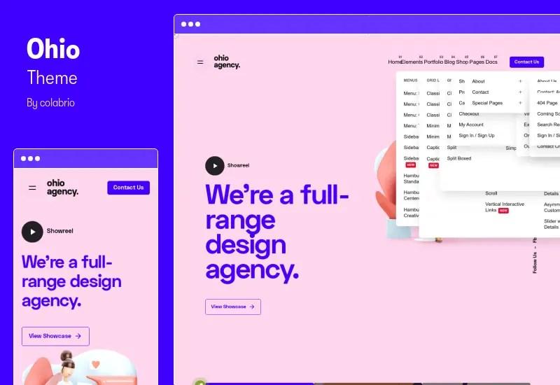 Ohio Theme - Creative Portfolio & Agency WordPress Theme
