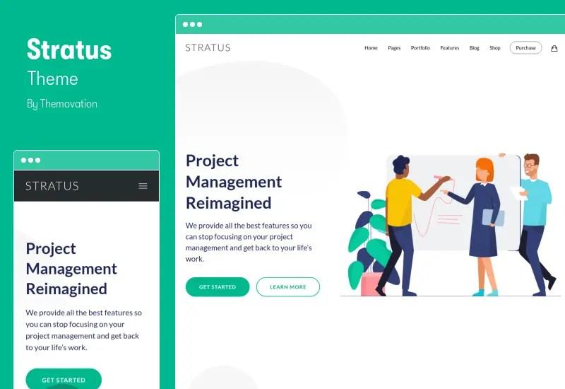 Stratus Theme - App, SaaS & Software Startup Tech Theme