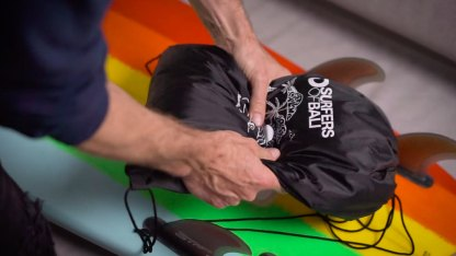 BetterSurf Remote Surf Travel First Aid Kit bag in action