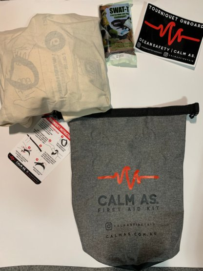 Calm As. Shark Bite First Aid Pack with content