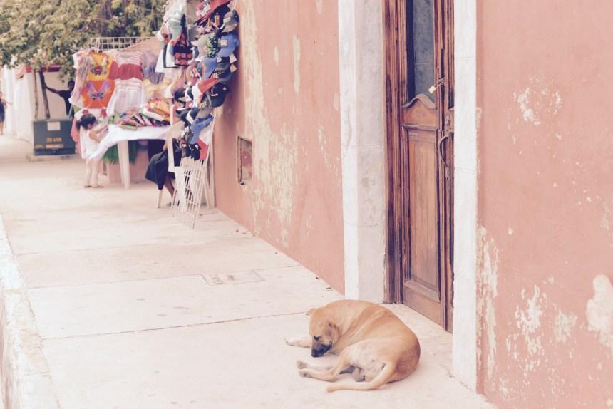 Sunday in Merida street Mexico