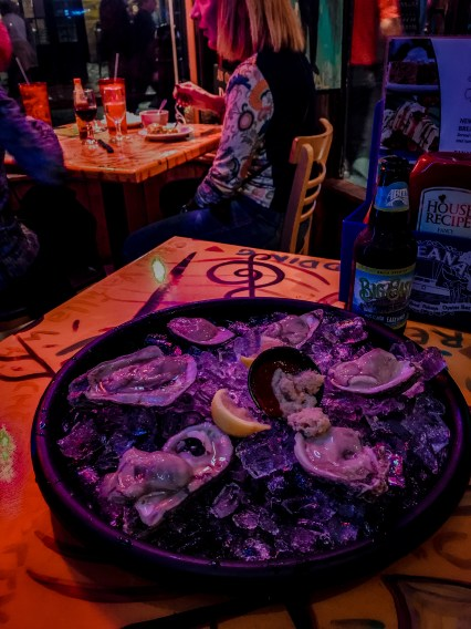 Oceana Grill, got some fresh oysters and Gator Tail Bites visit new orleans