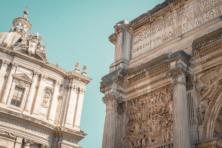 walk in Roman forum