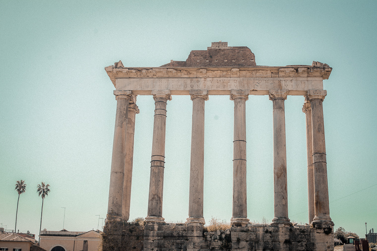 Temple of Saturn Tempio di Saturno in Roman Forum