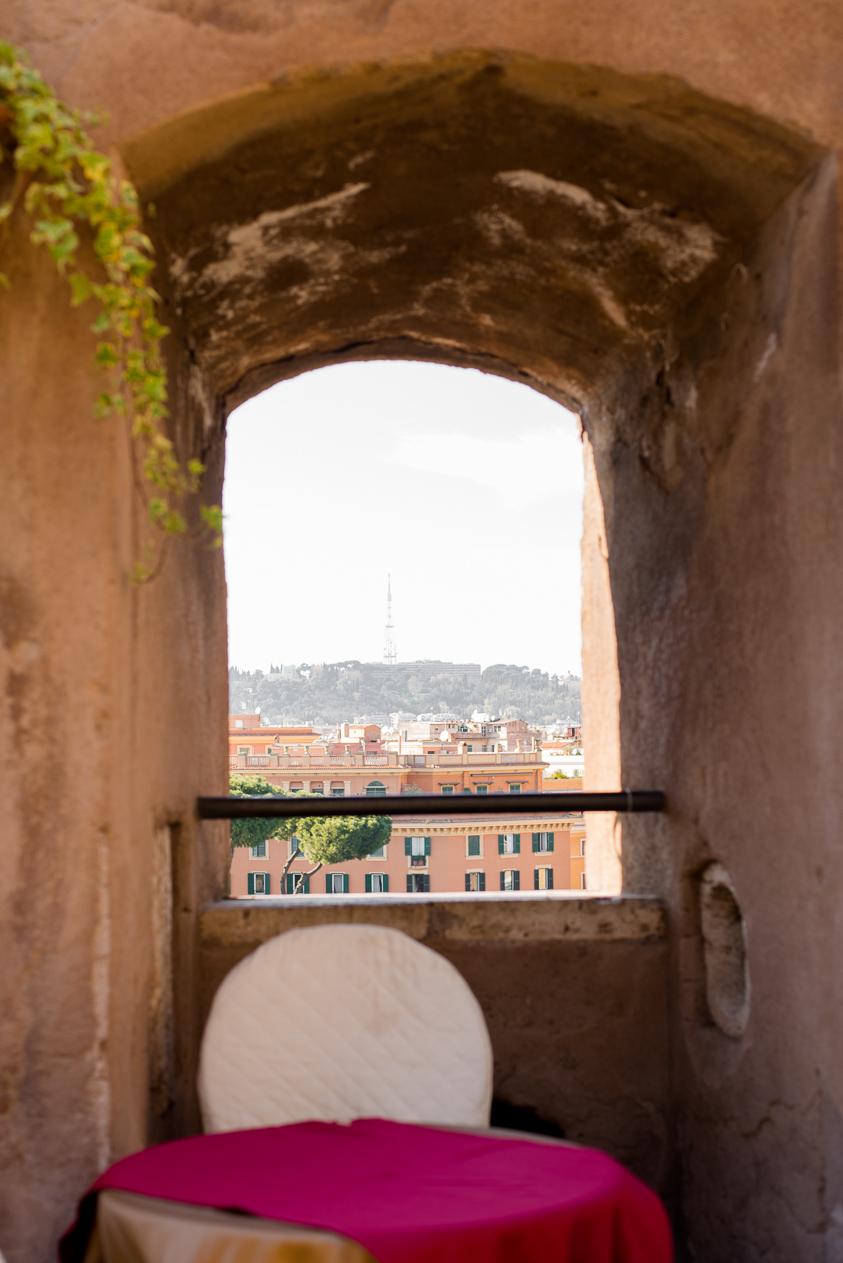 cafe inside Castel Sant'Angelo