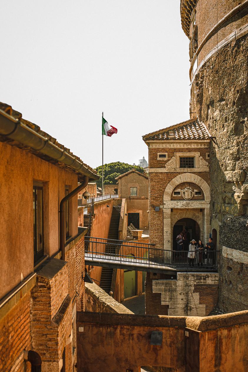 inside Castel Sant'Angelo Vatican city