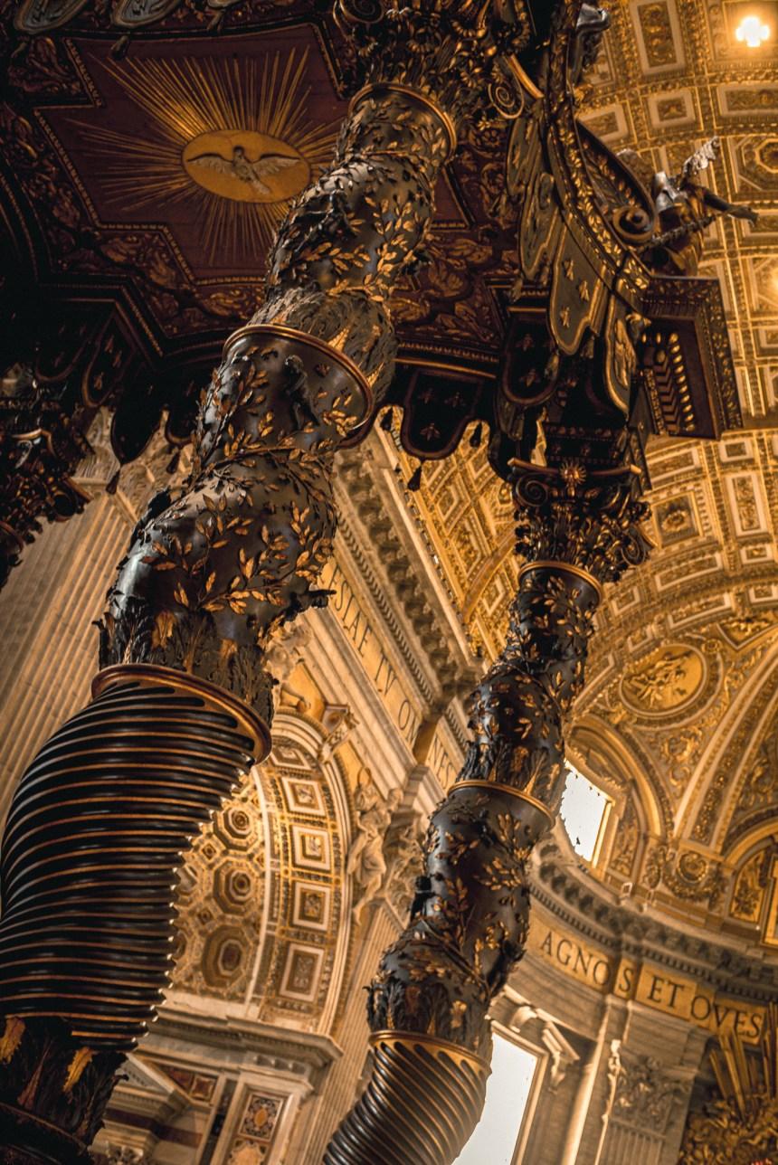 inside St Peter's Basilica Rome trip