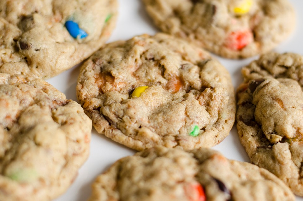 M&M Butterfinger Cookies - Better with Family (www.betterwithfamily.com)
