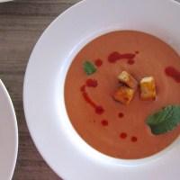 Eleven Madison's Strawberry Gazpacho