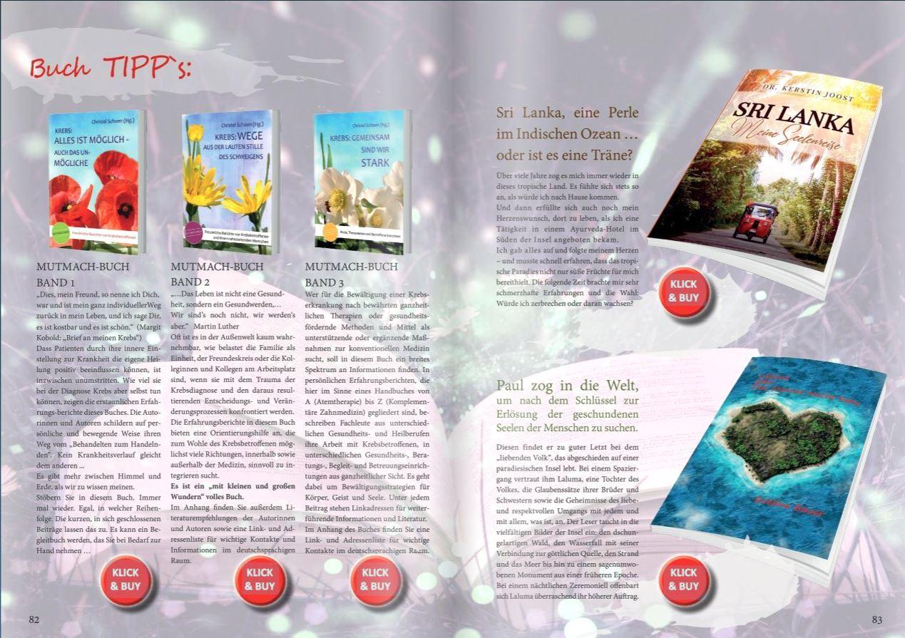 Buch Tipp im Herz Projekt Magazin als Promotion