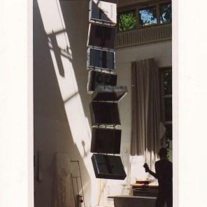 Klapperschlange 1 1999, 100x 20x 800cm, Druckplatten,Holz