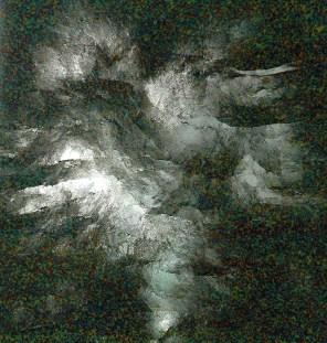 Tubescape 1 2005, 90 x 120 x 25cm, Trinkhalme und Plexiglas
