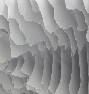 Huashan II, Detail 2 2015, 310 x 350 x 180cm, Papier + Edelstahl