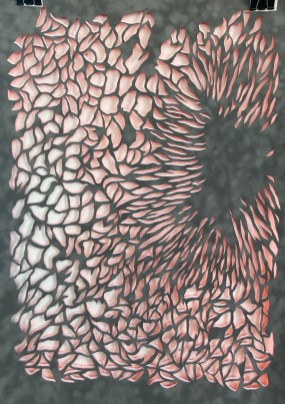 TransluzenzSonnenloch,2021,Papierschnitt,70x50cm