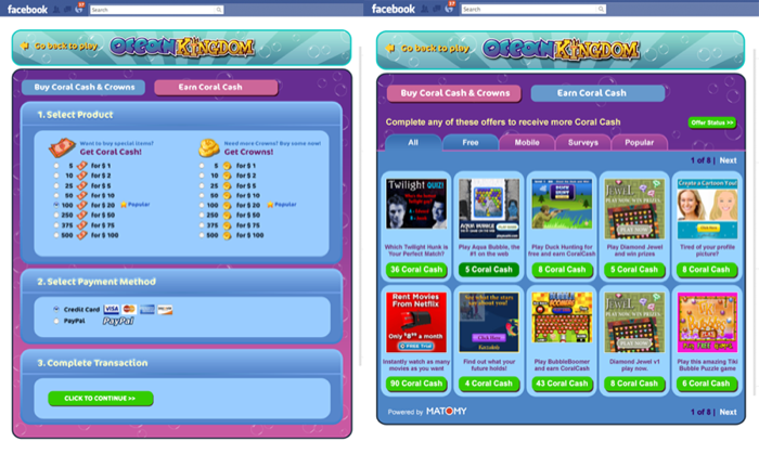 Ocean Kingdom - Purchase currencies - wip