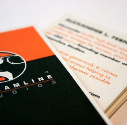Streamline Studios Business Card - Close-up