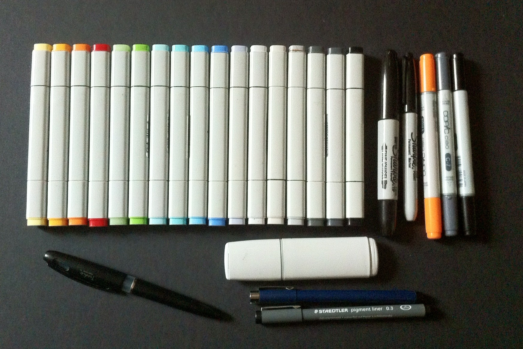 My favorite pens + markers  … together we make ideas visible
