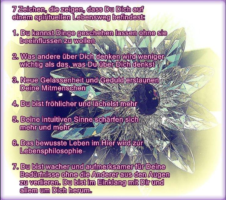 7 spirituelle Zeichen