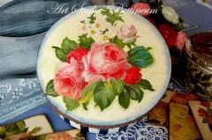 Pudełko okrągłe Róże