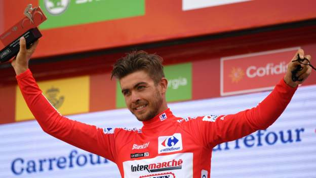 Vuelta a Espana: Odd Christian Eiking takes red jersey as champion Roglic crashes on stage 10