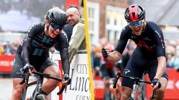 Ben Swift and Pfeiffer Georgi win national road race titles
