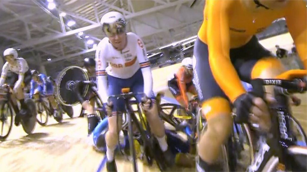 Track Cycling World Championships: GB's Katie Archibald avoids 'nasty crash' as she seals dominant omnium gold
