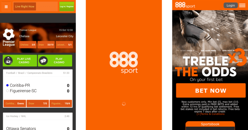 In Game 888 Android App Screens